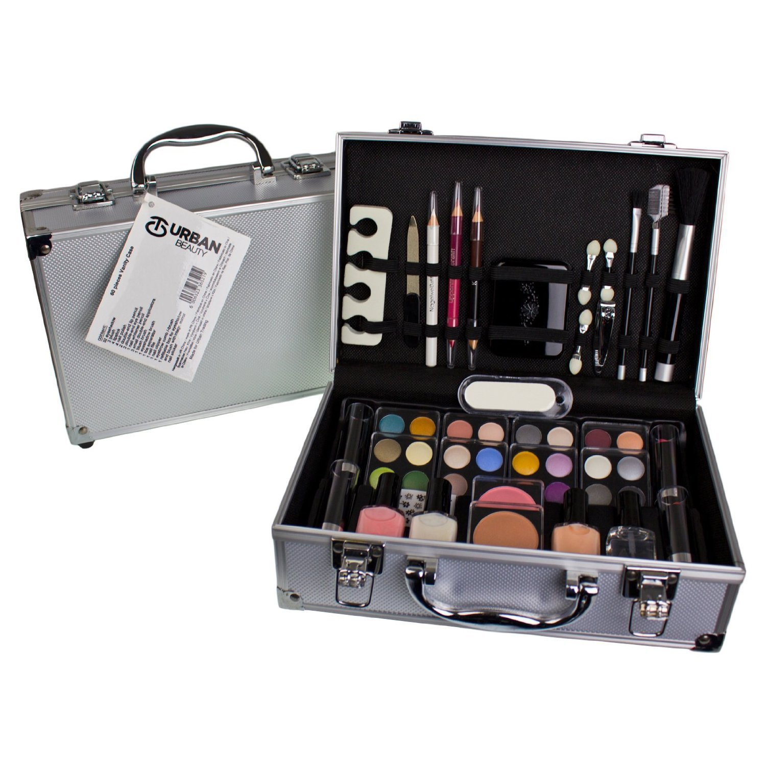 60 Piece Urban Beauty Travel Cosmetic Vanity Case